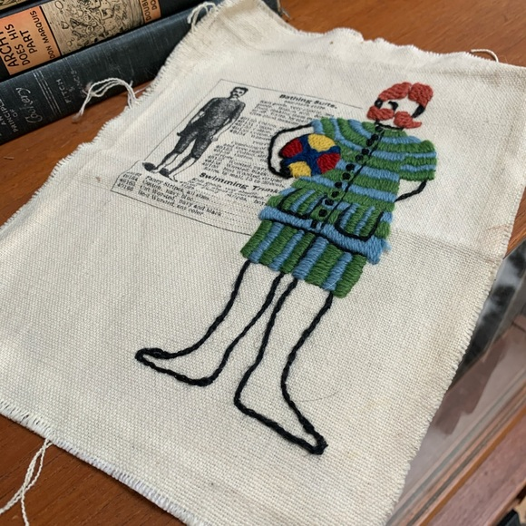 Vintage needlepoint art